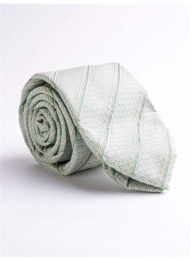 Dufy Çızgılı Ipek Kravat Yeşil